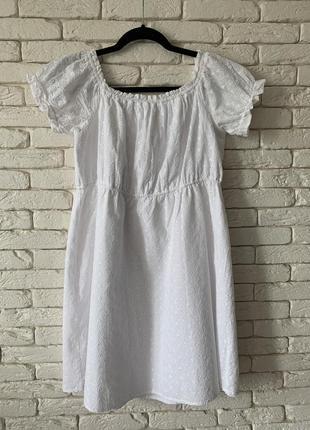 Платье белое короткое 100%батист размер xl