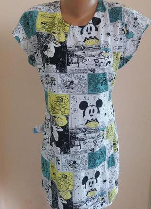 Платье женское молодежное туника микки