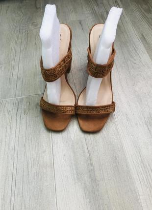 Босоножки, сабо boohoo, шлёпанцы на каблуке, сандалии
