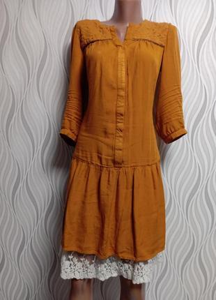 Promod наьуральное платье рубашка