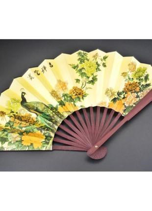 Веер ручной принт в китайском стиле