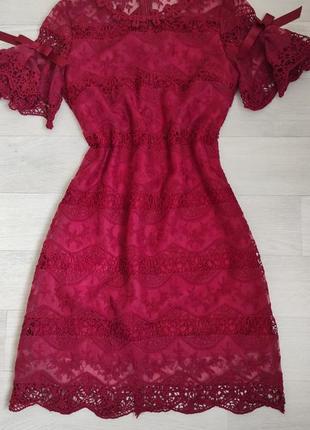 Платье нарядное кружевное м