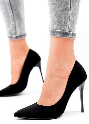 Туфли женские kalli черные  код: 4130