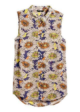 Блуза с цветами h&m