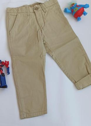 Брюки чиносы бежевого цвета h&м на мальчика 92 см, 1,5-2 года