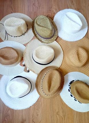 Шляпа соломенная / солом'яний капелюх / шляпа для моря