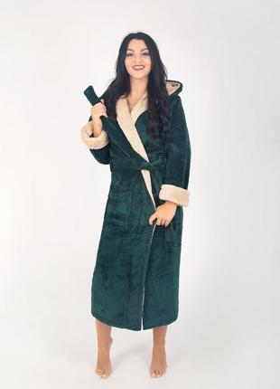 Халат большого размера женский махровый