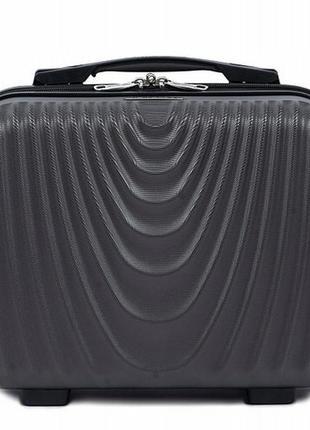Чемодан дорожный (кейс-пилот) пластиковый мини 304 xs wings ( серый / grey )