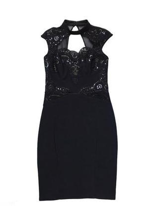 Нарядное поаздничное платье миди вышитое паетками