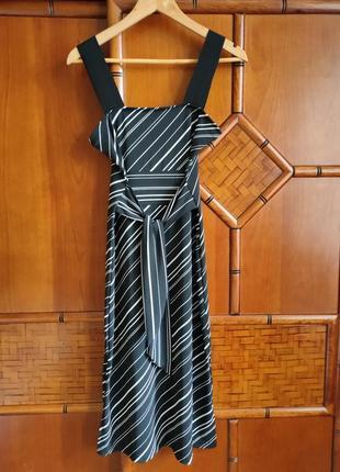 Шикарное платье сарафан в полоску
