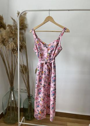 Скидка красивый женский летний сарафан одуванчик на жемчужных пуговицах! цвет розовый