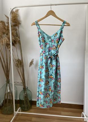 Скидка красивый женский летний сарафан одуванчик на жемчужных пуговицах! цвет мята