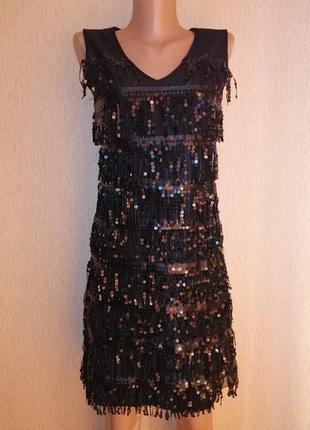 Красивое короткое черное вечернее, коктейльное платье snialin