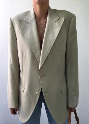 Бежевый бойфренд блейзер пиджак жакет dolce & gabbana винтажный винтаж