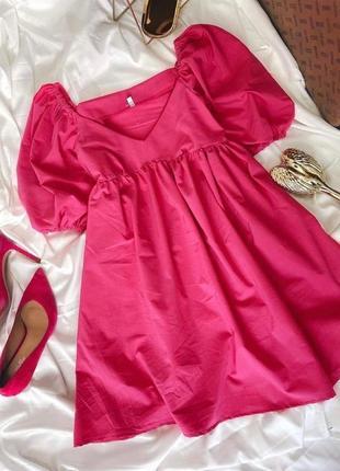 Хлопковое платье свободного фасона