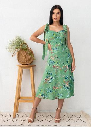 Натуральное платье сарафан из тонкого льна