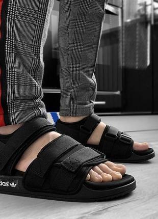 Мужские летние спортивные тапочки босоножки сандалии adidas