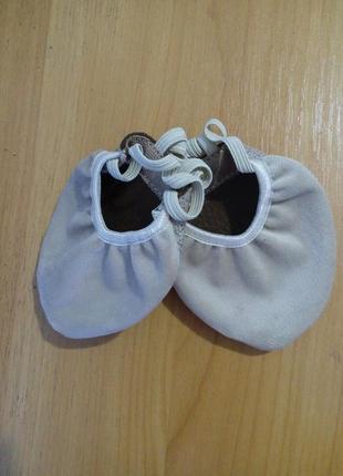 Детские велюровые получешки для танцев 17-22 см