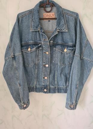 Стильная объёмная джинсовая куртка, джинсовка оверсайз