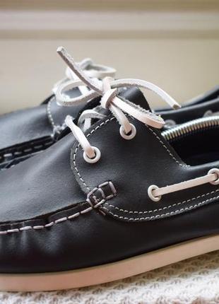 Кожаные туфли мокасины топсайдеры avenue р.10 р.43-43,5 28 см