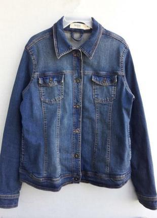 Джинсовая куртка пиджак джинсовка