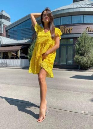 Платье сарафан прошва