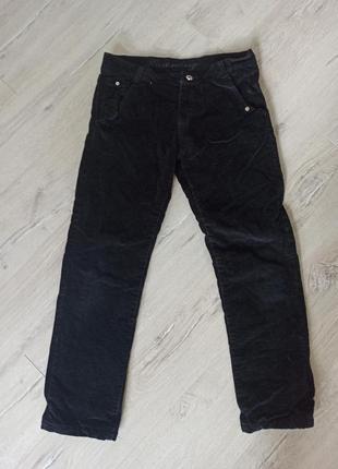 Плотные вельветовые брюки на флисе 146