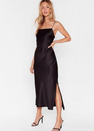 ❤️очень красивое платье мидакси с квадратным декольте nasty gal boohoo