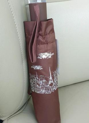 Жіноча парасоля автомат, paris,  9 спиць з вітрозахистом,  купол 100см