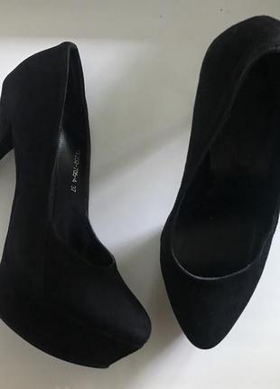 Замшевые туфли basconi🖤