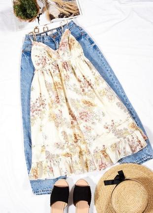 Летний сарафан с пышным низом, романтичное платье, платье летнее, нежное платье, сукня