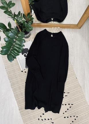 Красиве чорне плаття з розрізами спереду від primark🌿