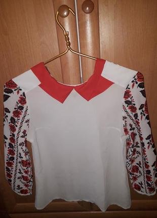 Блуза в стиле вышиванки 😍