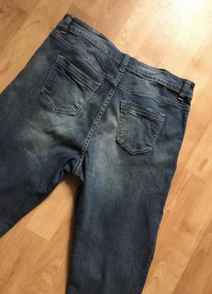 Новые джинсы с потёртостями внизу серые синие5 фото