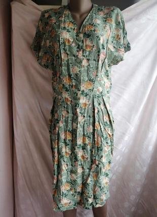 Винтажное платье рубашка