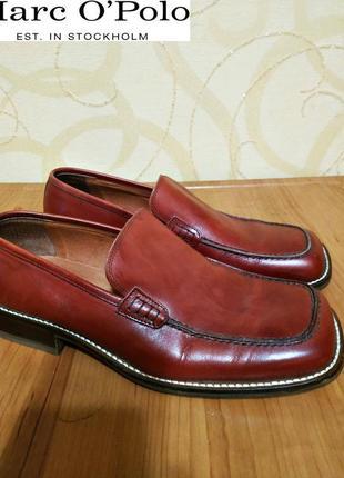 Кожаные туфли известного немецкого бренда marc o polo, оригинал, пр-во италия, р. 43.