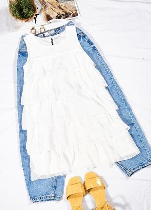 Белое платье короткое, коктейльное платье мини, летнее платье, сукня, плаття
