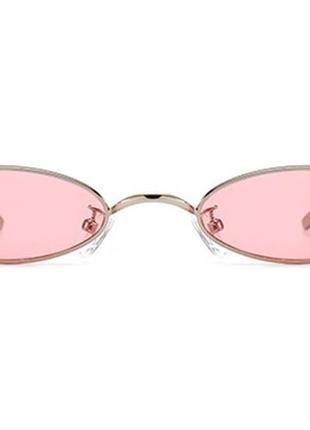 Стильные имиджевые очки / овальные узкие ретро очки