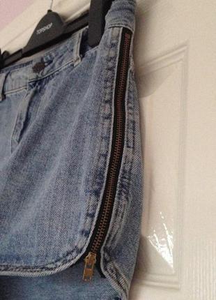 Крутые джинсовые шорты, высокая посадка с молниями, xxs-xs