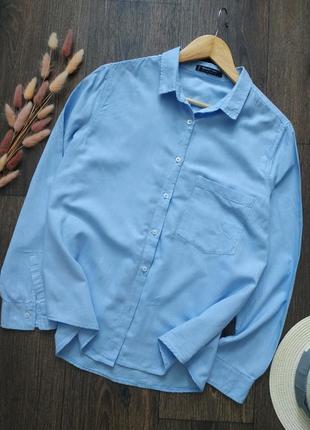 Натуральная хлопковая рубашка свободного кроя, оверсайз
