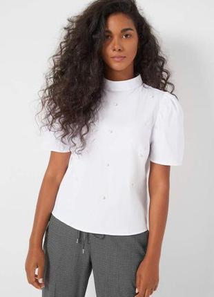 Нарядная блуза с бусинами на лето или первое сениября