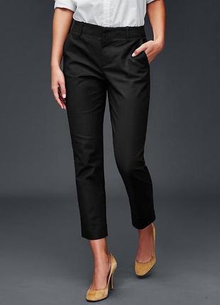 Укороченные черные штаны слим gap брюки р. m/l