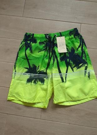 Шорты мужские пляжные ,купальные плавки гавайские