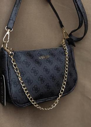 Сумка женская сумочка с цепочкой багет через плечо guess гес
