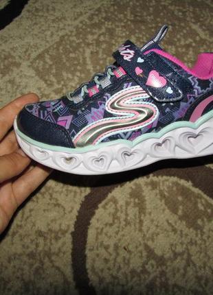 Skechers кросівки 19.7 см устілка світяться