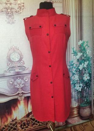 Платье-сафари лен