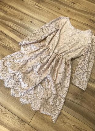 Женское ажурное платье