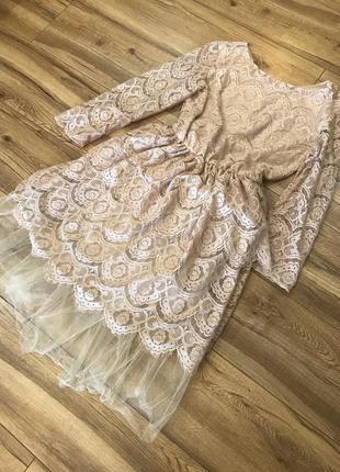 Женское ажурное платье2 фото