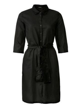Льняное платье рубашка esmara