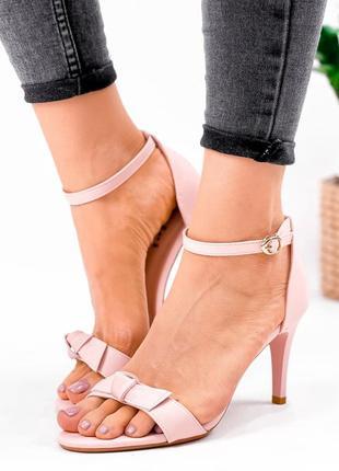 Рр 37-40.женские босоножки туфли пудра на шпильке